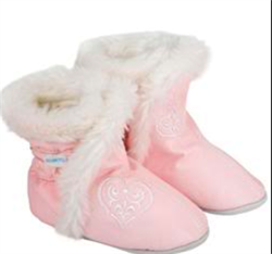 FASHION BOOTIES HEARTS rosa
