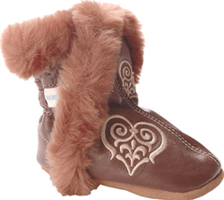 FASHION BOOTIES HEARTS brune
