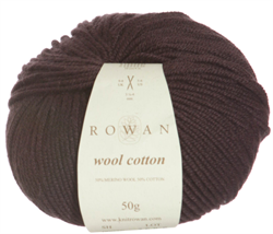 WOOL COTTON farge 956 Coffe