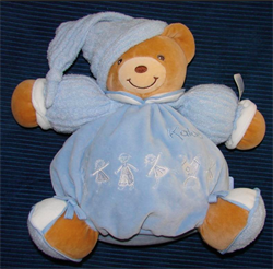 BLUE CHUBBY VELOUR BEAR