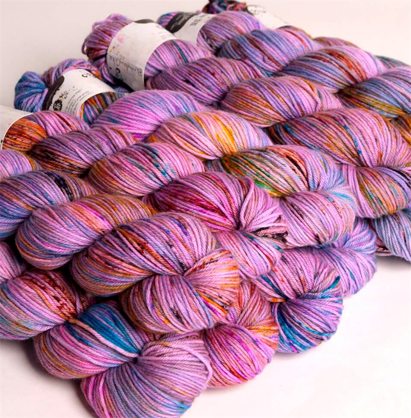 HF SOCK YARN -  farge BIRTHDAY CAKE