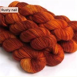 HF SOCK YARN -  farge RUSTY NAIL