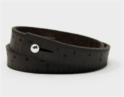 "Lang WRIST RULER - 30"" Armbånd/Målbånd -  Dark Brown"
