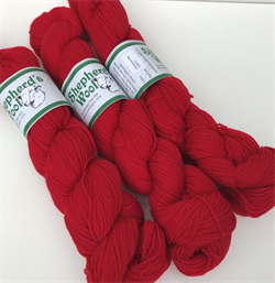 Shepherd's Fingering farge CHRISTMAS RED